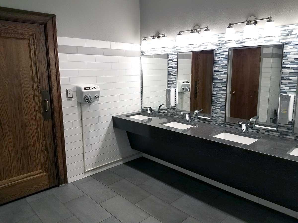 Wells & West Commercial General Contractors Colorado Springs Client City Auditorium Restroom Interior Remodel