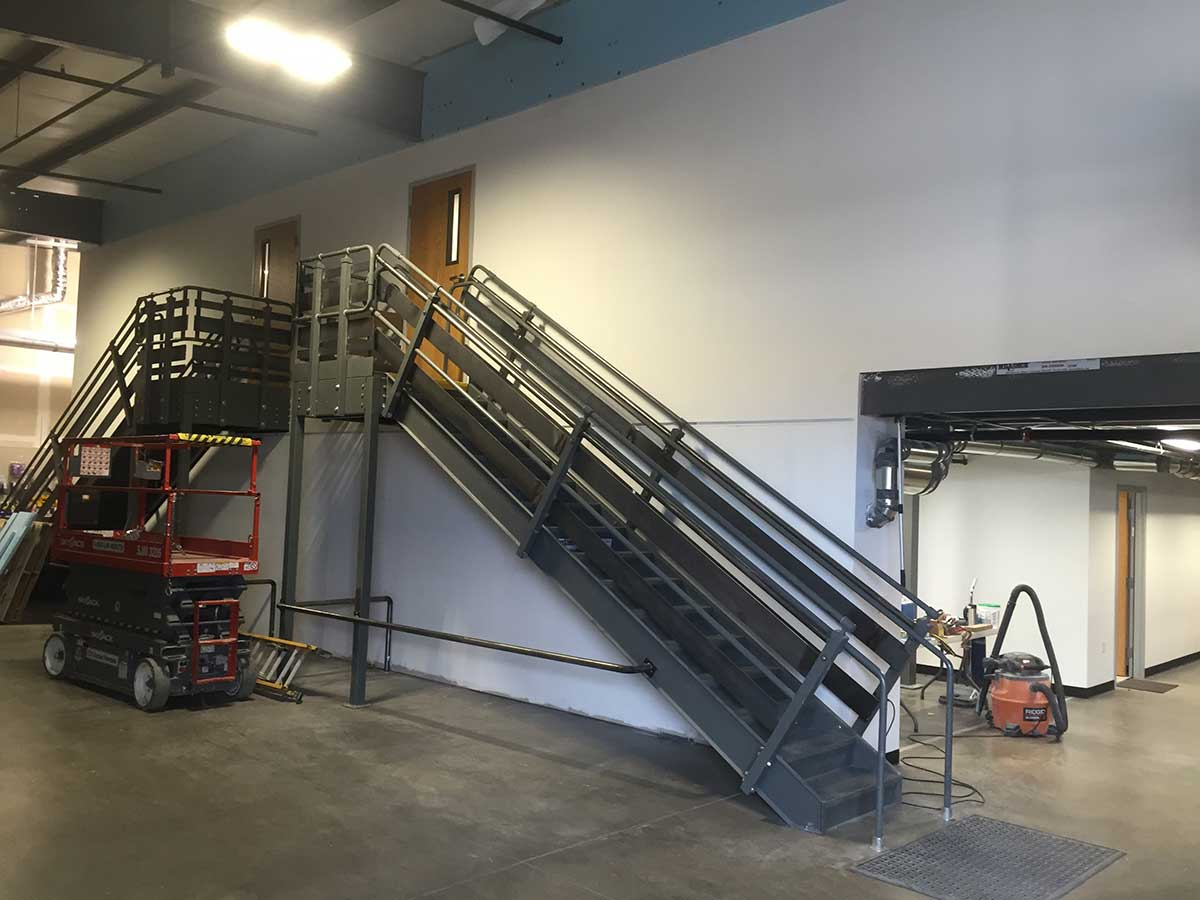 Wells & West Commercial General Contractors Colorado Springs Client D49 Warehouse Mezzanine Interior Remodel