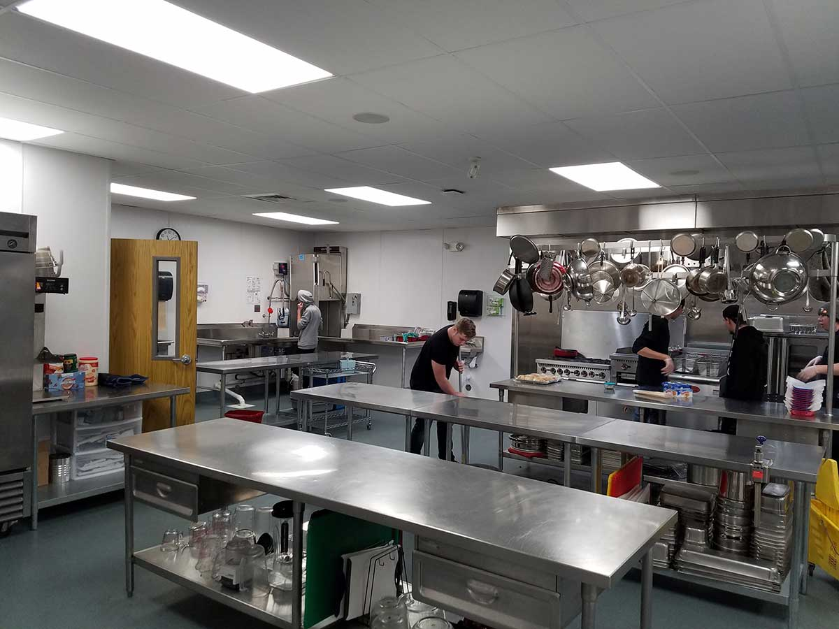 Wells & West Commercial General Contractors Colorado Springs Client Falcon Legacy Campus Culinary Room Interior Remodel
